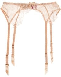 L'Agent by Agent Provocateur - Angelica Lace And Stretch-tulle Suspender Belt - Lyst