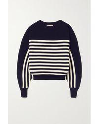 Alexandre Vauthier Striped Wool Sweater - Blue
