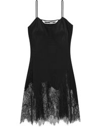 McQ Lace-trimmed Silk Camisole - Black