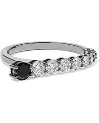 Melissa Kaye - Aria 18-karat Blackened White Gold Diamond Ring White Gold 7 - Lyst
