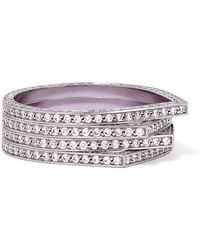 Repossi - Antifer 18-karat Lilac Rhodium-plated Diamond Ring - Lyst