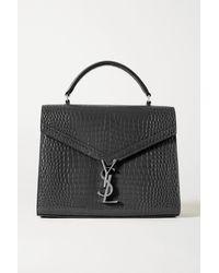 Saint Laurent - Cassandra Medium Croc-effect Leather Tote - Lyst