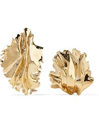 Annelise Michelson | Sea Leaves Gold-plated Clip Earrings | Lyst