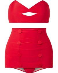 Adriana Degreas - Bikini Bandeau Pin-up Kiss Par Charlotte Olympia - Lyst