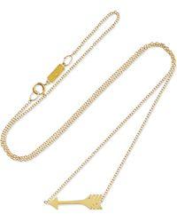 Jennifer Meyer - Mini Arrow 18-karat Gold Necklace - Lyst