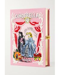 Olympia Le-Tan Cinderella Embroidered Appliquéd Canvas Clutch - Pink