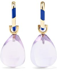 Alice Cicolini - Memphis 14-karat Gold, Enamel And Amethyst Earrings - Lyst