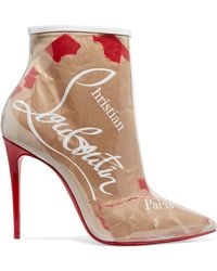7138b417211 Christian Louboutin - So Kate 100 Logo-print Pvc Ankle Boots - Lyst