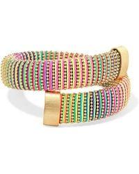 Carolina Bucci - Caro Gold-plated And Cotton Bracelet - Lyst