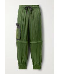 Fendi Convertible Ripstop Track Pants - Green