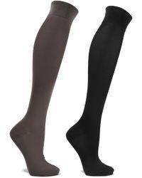 Set Of Two Stretch Cotton-blend Knee Socks - Black Falke Free Shipping Cheap Online p8nCZcwaK