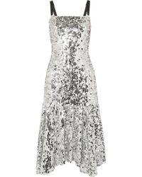 Dolce & Gabbana - Paillette-embellished Tulle Midi Dress - Lyst