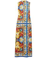Dolce & Gabbana - Sleeveless Mock Neck Dress - Lyst