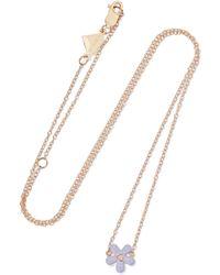 Alison Lou - Wildflower Enamelled 14-karat Gold Diamond Necklace - Lyst