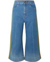 Gucci - Verkürzte, Hoch Sitzende Jeans Mit Weitem Bein - Lyst