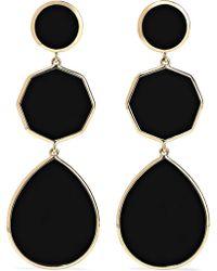 Ippolita - Polished Rock Candy 18-karat Gold Onyx Earrings - Lyst