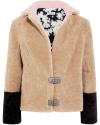 Saks Potts - Heidi Color-block Shearling Jacket - Lyst