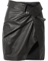 Isabel Marant - Baixa Leather Wrap Mini Skirt - Lyst