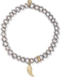 Sydney Evan - Wing Pearl, Diamond And 14-karat Gold Bracelet - Lyst