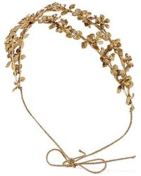 Jennifer Behr Adele Gold-tone Headband - Metallic