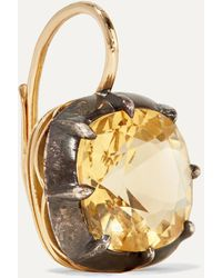 Fred Leighton Collection Silver-topped 18-karat Gold Quartz Earrings - Metallic