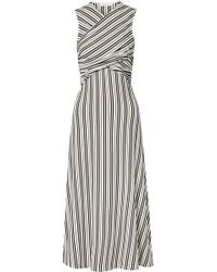 Beaufille - Damia Striped Ribbed-knit Midi Dress - Lyst