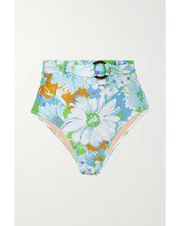 Faithfull The Brand - + Net Sustain Lavande Bikini-höschen Mit Blumenprint Und Gürtel - Lyst
