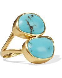 Pippa Small - 18-karat Gold Turquoise Ring - Lyst