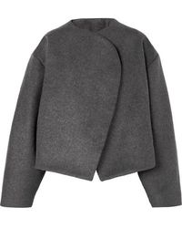 Totême Bellac Cropped Wool-blend Jacket - Gray