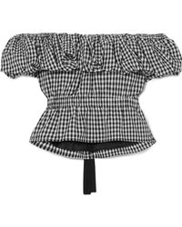 Rejina Pyo - Mina Off-the-shoulder Gingham Cotton Top - Lyst
