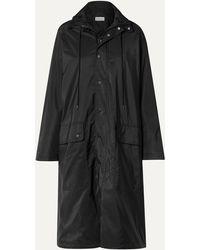 Balenciaga Opera Oversized Printed Reflective Shell Raincoat - Black