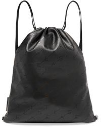 Stella McCartney - Perforated Faux Leather Backpack - Lyst