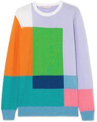 Mary Katrantzou - Hartigan Color-block Wool Sweater - Lyst