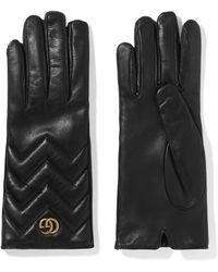 Gucci - Marmont Quilted Leather Gloves - Lyst