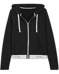 Calvin Klein - Cotton-blend Jersey Hoodie - Lyst