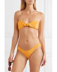 Lisa Marie Fernandez Poppy Bikini Aus Frottee Aus Einer Baumwollmischung Mit Knoten - Orange