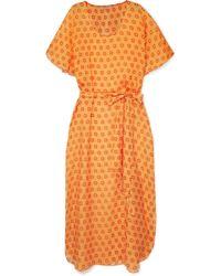 Paloma Blue - Cosmo Printed Silk-chiffon Dress - Lyst