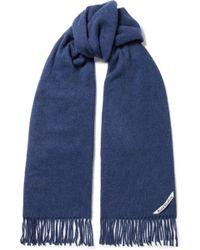 Acne Studios - Canada Narrow Fringed Wool Scarf - Lyst