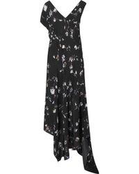 Preen Line - Dana Asymmetric Floral-print Crepe De Chine Midi Dress - Lyst