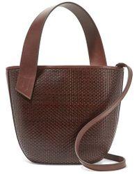 Tl-180 Panier Saigon Woven Leather Shoulder Bag - Brown