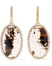 Kimberly Mcdonald - 18-karat Rose Gold, Agate And Diamond Earrings - Lyst