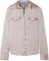 M.i.h Jeans - Venetia Satin Shirt - Lyst