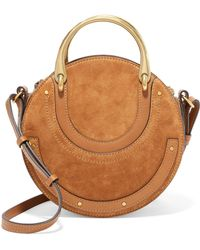 Chloé | Pixie Suede And Textured-leather Shoulder Bag | Lyst