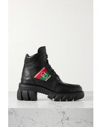 Gucci Leather Ankle Boots - Black