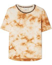 3.1 Phillip Lim - Wool-trimmed Tie-dye Cotton-jersey T-shirt - Lyst