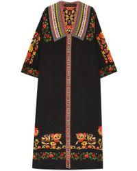 Etro - Printed Silk Kaftan - Lyst
