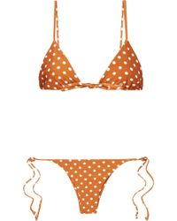 Faithfull The Brand - Polka-dot Triangle Bikini - Lyst
