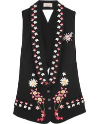 Temperley London - Juniper Cutout Embroidered Crepe Vest - Lyst