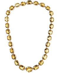 Fred Leighton - 1880s 10-karat Rose Gold Citrine Necklace - Lyst