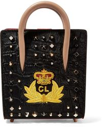 Christian Louboutin - Paloma Nano Embellished Calf Hair And Leather Tote - Lyst